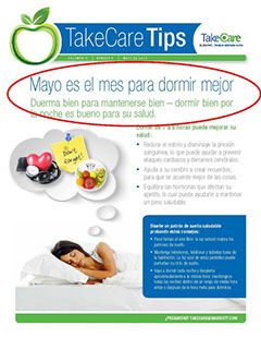 This is a newsletter page in Spanish.